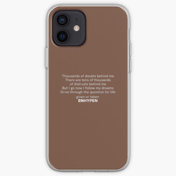 ENHYPEN 'GIVEN OR TAKEN' LYRICS iPhone Soft Case RB3107 product Offical Enhypen Merch