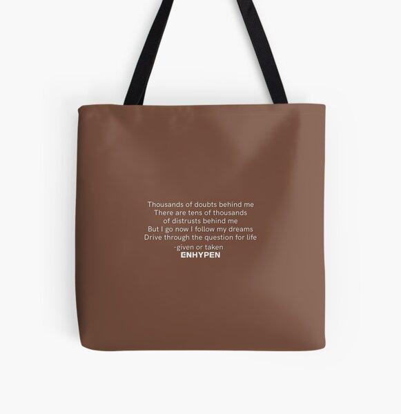 ENHYPEN 'GIVEN OR TAKEN' LYRICS All Over Print Tote Bag RB3107 product Offical Enhypen Merch