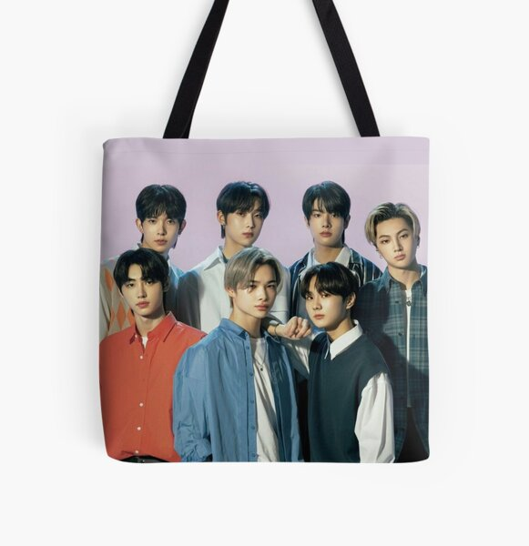 2021 ENHYPEN Group Photo - Purple Background All Over Print Tote Bag RB3107 product Offical Enhypen Merch