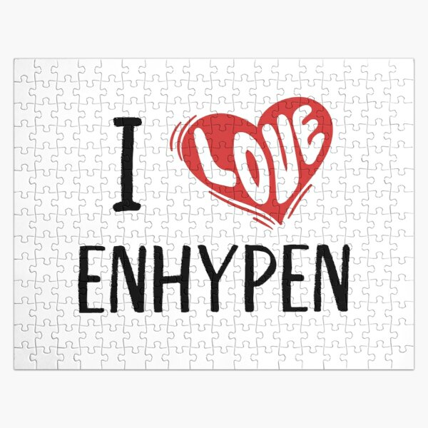 I Love Enhypen Jigsaw Puzzle RB3107 product Offical Enhypen Merch