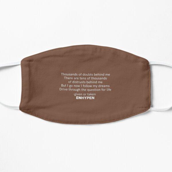 ENHYPEN 'GIVEN OR TAKEN' LYRICS Flat Mask RB3107 product Offical Enhypen Merch