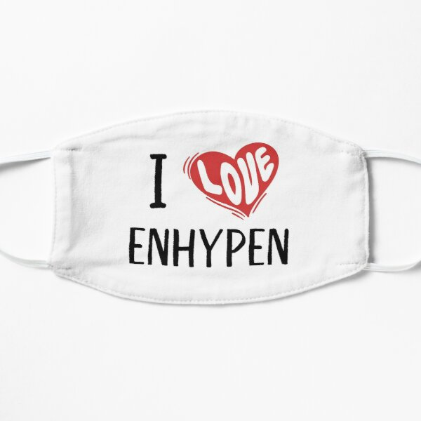 I Love Enhypen Flat Mask RB3107 product Offical Enhypen Merch
